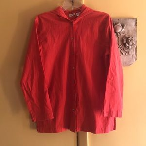 Chico's Hooded Button Top